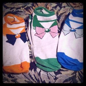 Set of 3 Sailor Moon Ankle Socks